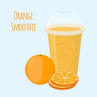 Oranje detox gezonde smoothie