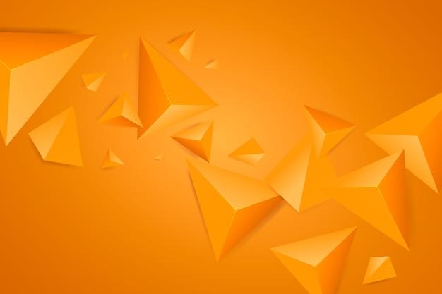 Oranje driehoeksachtergrond met levendige kleuren