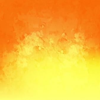 Oranje en gele achtergrond aquarel