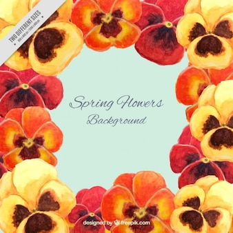 Oranje en gele bloemen achtergrond