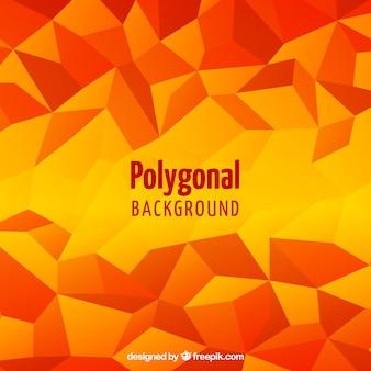 Oranje en gele veelhoekige achtergrond