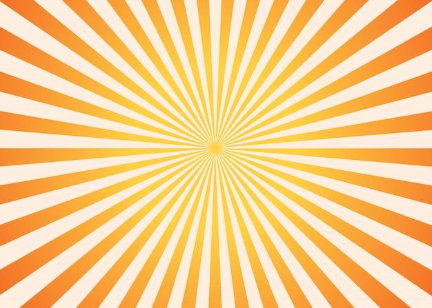 Oranje en gele zonnestraalachtergrond