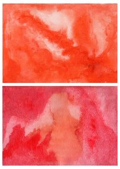 Oranje en rode aquarel abstracte achtergrond