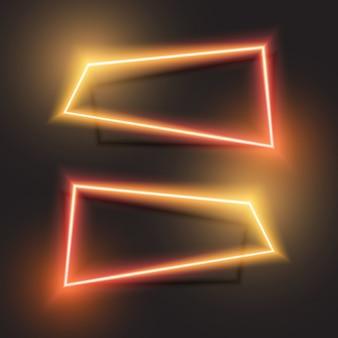 Oranje en rood ontwerp van de gradiënt abstracte banner