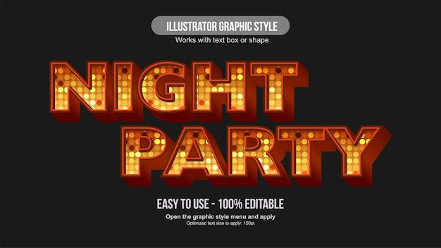 Oranje feestglobe 3d bewerkbaar teksteffect