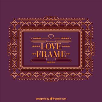 Oranje frame met liefde