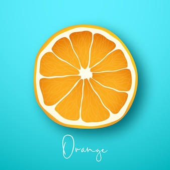 Oranje fruit cutaway