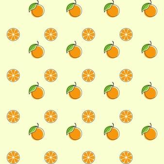 Oranje fruit naadloze ontwerp illustratie template