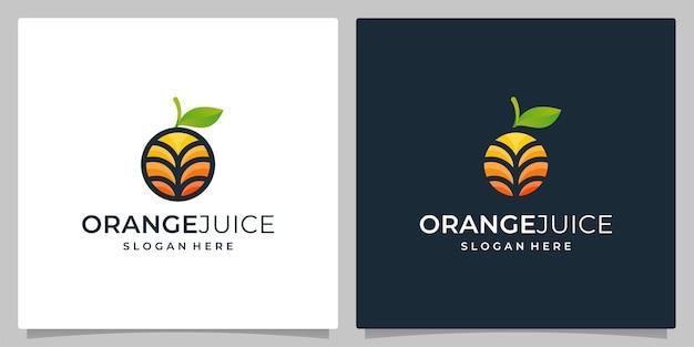 Oranje fruit-ontwerp plat met kleurvolle en moderne stijlvector