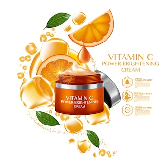 Oranje fruit vitamine serum vocht huidverzorging cosmetisch