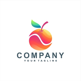 Oranje fruitverloop logo-ontwerp