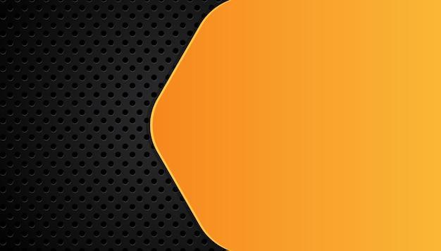 Oranje geel en zwart abstract zakelijke achtergrond