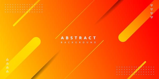 Oranje geometrische op kleurrijke achtergrond met kleurovergang