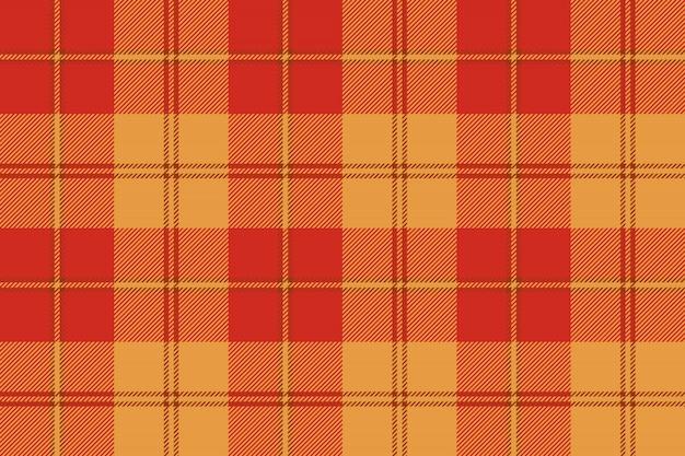 Oranje geruite tartan stof textuur naadloze patroon