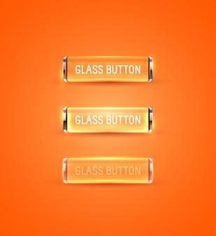 Oranje glazen knoppen collectie