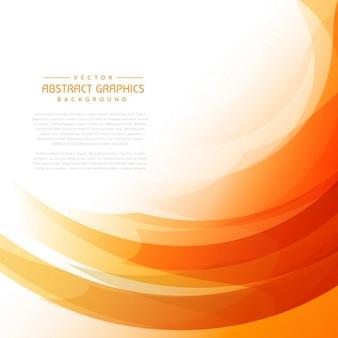 Oranje golvende achtergrond met abstracte vormen
