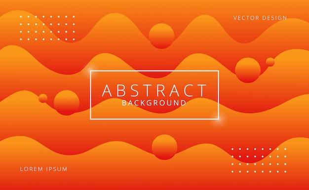 Oranje gradiënt geometrisch vormenontwerp als achtergrond