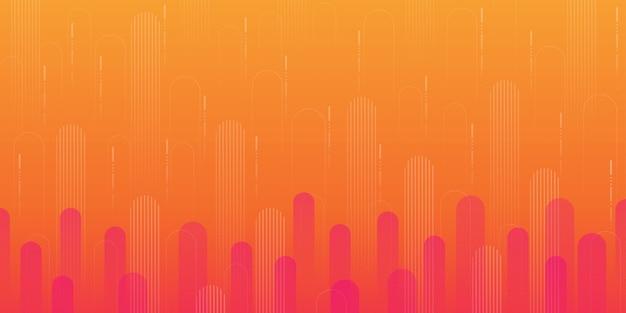 Oranje gradiënt geometrische vormachtergrond