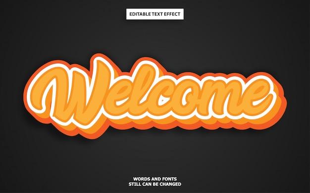 Oranje graffiti bewerkbaar teksteffect