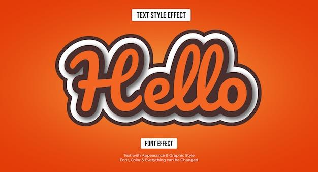 Oranje hallo bewerkbaar teksteffect