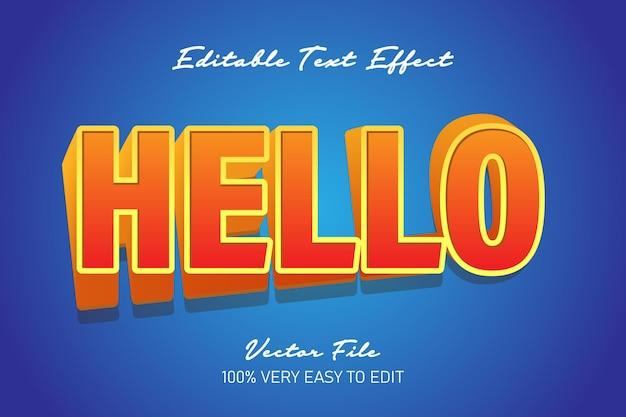 Oranje hallo twist teksteffect
