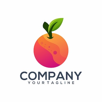 Oranje kleurrijk logo