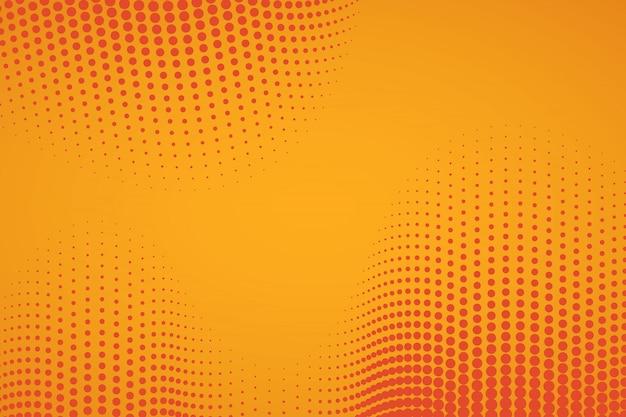 Oranje komische achtergrond met halftoon