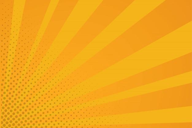 Oranje komische achtergrond