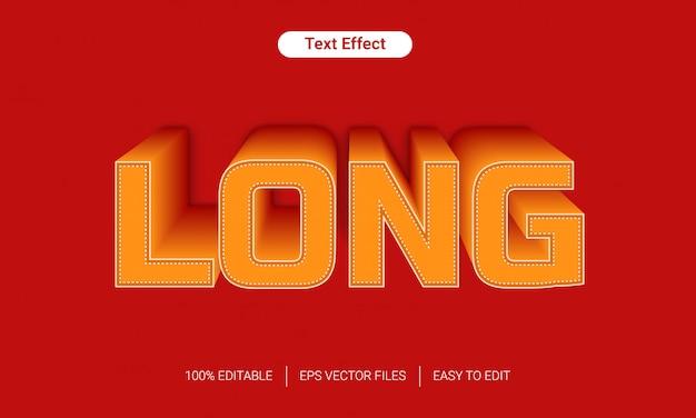 Oranje lange schaduw tekststijl effect