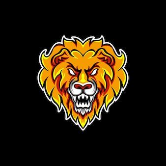 Oranje leeuw brullende