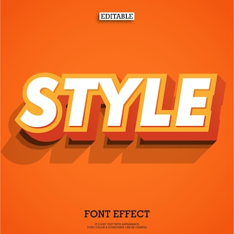 Oranje lettertype met dubbele 3d tekstblok