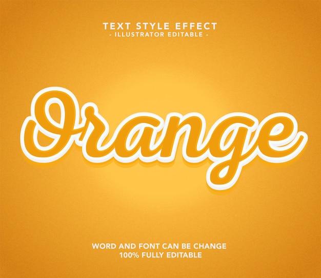 Oranje lettertype
