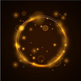 Oranje lichte achtergrond sjabloon