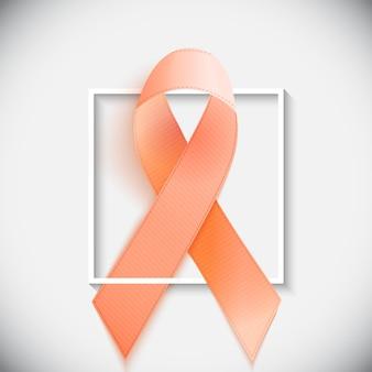 Oranje lint een symbool van leukemie.