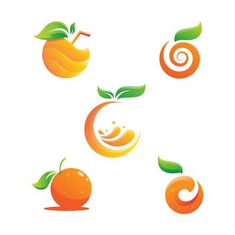 Oranje logo-ontwerp vector pictogram illustratie ontwerp