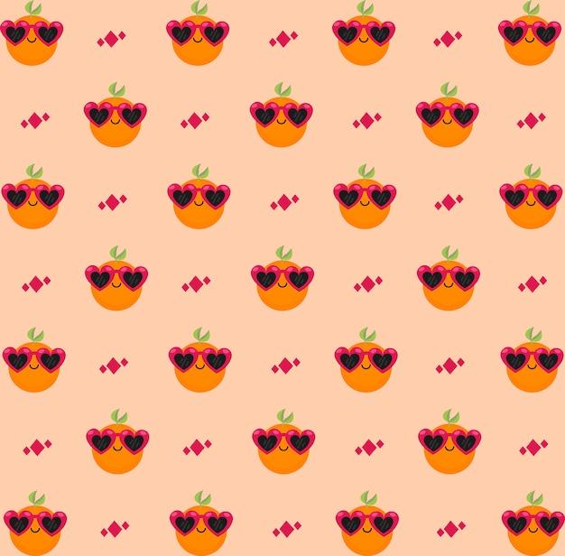 Oranje magenta patroon
