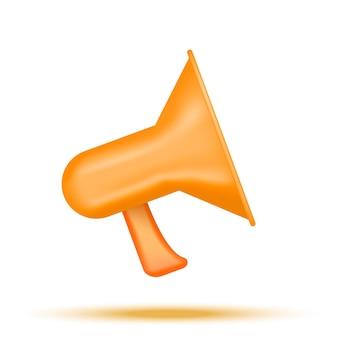 Oranje megafoon op witte achtergrond vectorillustratie