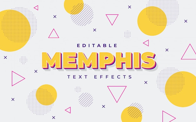 Oranje memphis teksteffect
