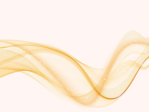 Oranje moderne abstracte lijnen swoosh certificaat snelheid vloeiende golf grens achtergrond