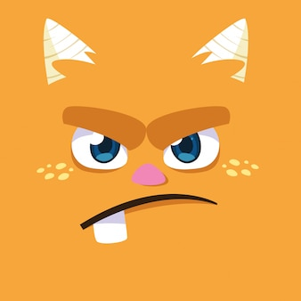 Oranje monster cartoon