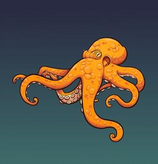 Oranje octopus