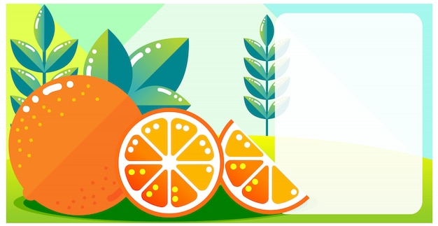 Oranje pagina kleurrijke achtergrond