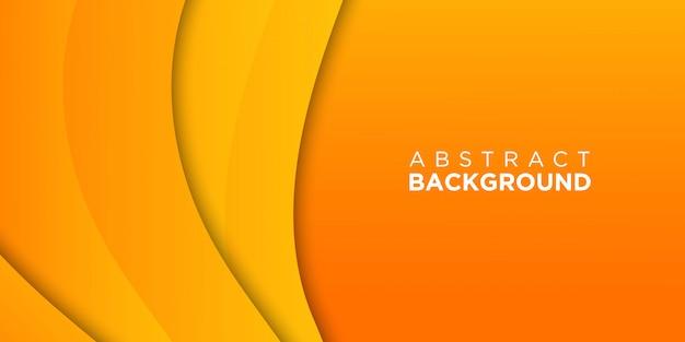 Oranje papier gesneden achtergrond 3d
