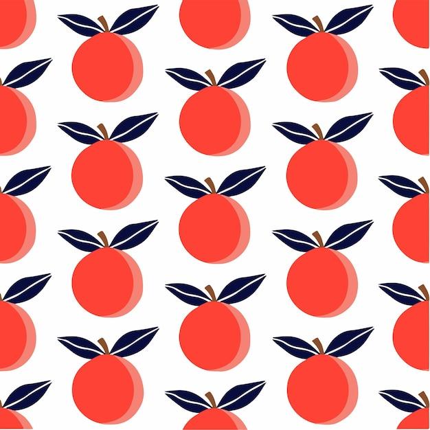 Oranje patroon achtergrond social media post fruit vector illustratie