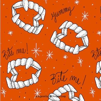 Oranje patroon van vampier prothese