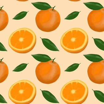 Oranje patroonachtergrond.