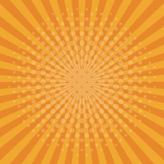 Oranje pop-artachtergrond