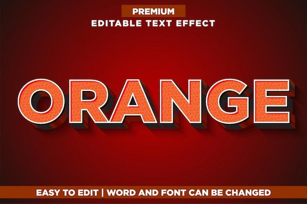 Oranje, premium bewerkbare teksteffect lettertypestijl