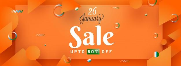 Oranje reclame verkoop banner