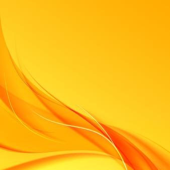 Oranje rook op gele achtergrond.